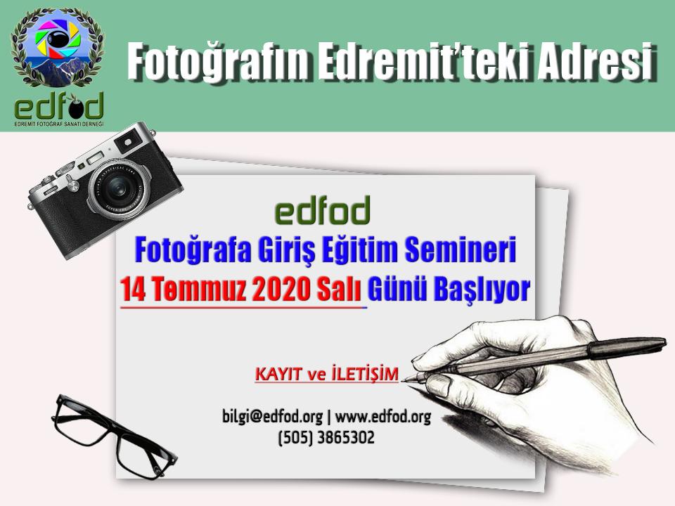 edfod, eğitim, fotoğrafa giriş, seminer, temel eğitim